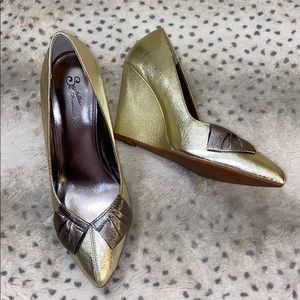 SEYCHELLES METALLIC WEDGE